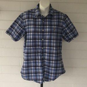Ralph Lauren Blue Label Blue Plaid Shirt M